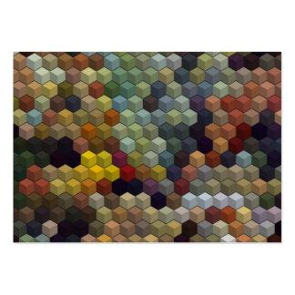 Cubos y cuadrado multicolores geométricos de los tarjetas de visita grandes