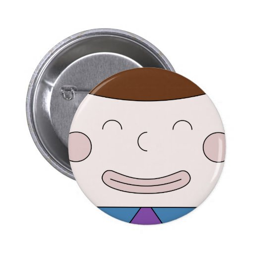 Cuboy Face On Badge Button