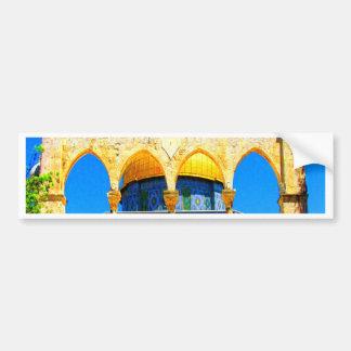cubra con una cúpula dios y la paz de la roca 14 pegatina de parachoque