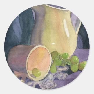 Cubre y las uvas pegatinas redondas