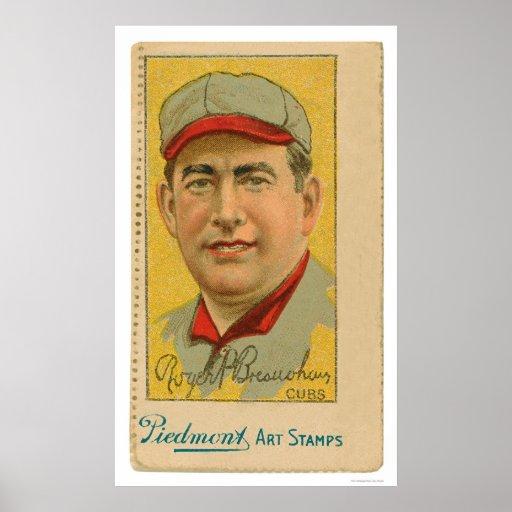 Cubs Baseball Art Stamp Bresnahan 1914 Print