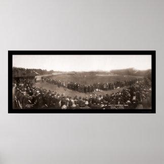 Cubs contra la foto 1907 del béisbol de los tigres poster