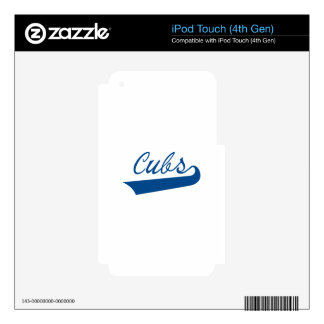 Cubs iPod Touch 4G Decal