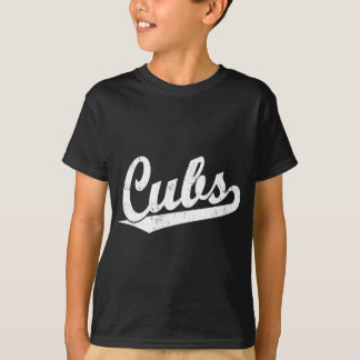 Cubs script logo in White T-Shirt