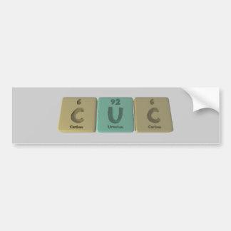 Cuc como carbono del uranio del carbono pegatina para auto