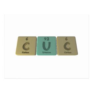 Cuc como carbono del uranio del carbono postales