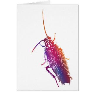 Cucaracha colorida felicitación