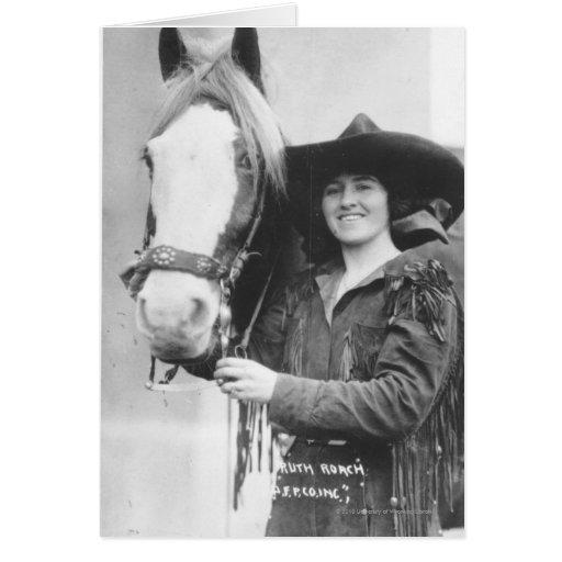 Cucaracha de Ruth y su caballo Tarjeta De Felicitación