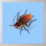 Cucaracha ingeniosa de Bugzeez_The en azules claro Posters