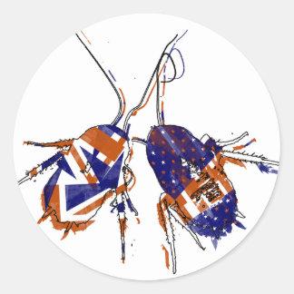 Cucarachas del Ameri-Británico Pegatinas Redondas