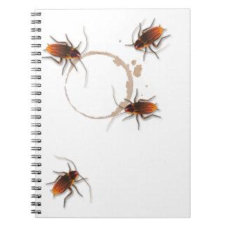Cucarachas pegajosas de Bugzeez_Icky de encargo Libreta Espiral