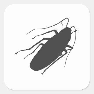¡Cucarachas! ¡Yick! Pegatina Cuadrada