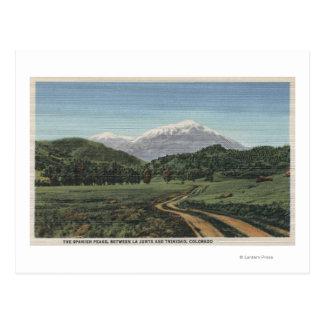 Cuchara, Colorado - vista de los picos españoles Tarjetas Postales