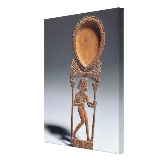 Cuchara cosmética con una figura de un lutenist n impresión en lona