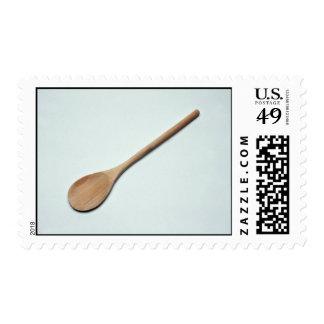 Cuchara de madera para el trabajo de la cocina sello