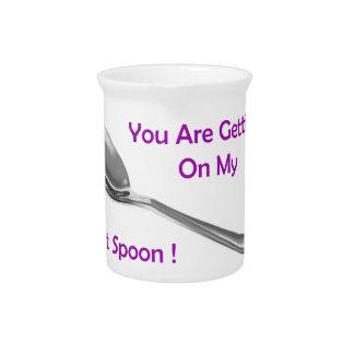 Cuchara pasada jarras para bebida
