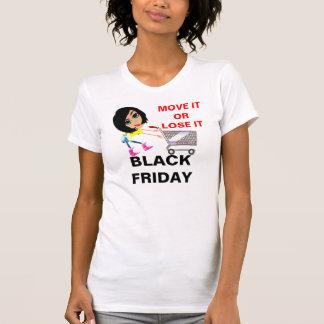 Cucharada casual de las señoras negras de viernes playera