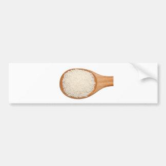 Cucharada de arroz fragante tailandés del jazmín pegatina para auto