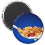 Cucharada de cereal imán para frigorífico