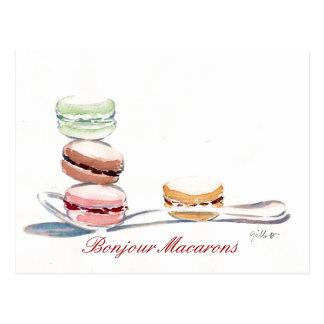 Cucharada de Macarons Tarjeta Postal