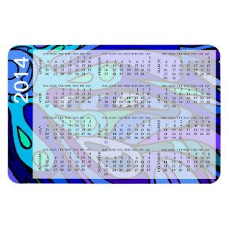Cucharada del calendario del azul 2014 del zen imanes flexibles