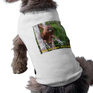 Cucharada y reciclaje del impulso playera sin mangas para perro
