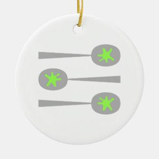 Cucharas de la imagen con Splat. verde Ornamentos De Navidad