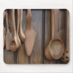 Cucharas de madera alfombrillas de ratones