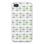Cucharas Pern, con Splat. verde iPhone 4 Cárcasa