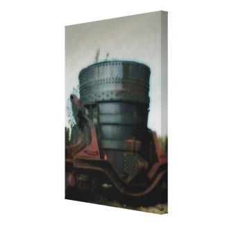 Cucharón del hierro - trabajos del hierro de la impresión en lienzo