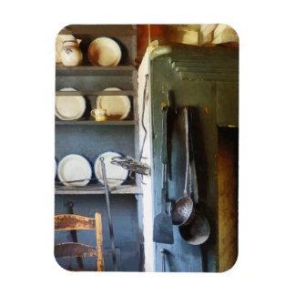 Cucharones y espátula en cocina iman de vinilo