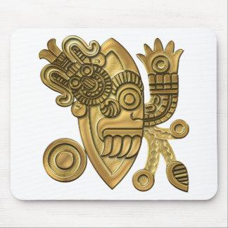 Cuchilla de cuchillo azteca del oro tapetes de raton