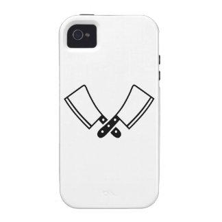 Cuchilla de los cuchillos de carnicero Case-Mate iPhone 4 funda