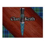 Cuchilla de Sgian Dubh del tartán de Keith del Tarjeta Postal