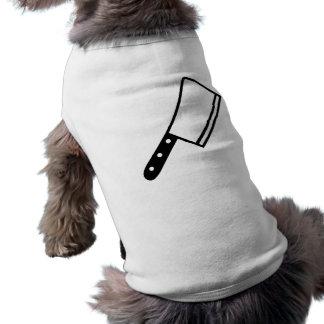 Cuchilla del cuchillo de carnicero playera sin mangas para perro