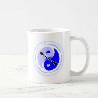 Cuchilla doble de Yin-Yang Taza De Café