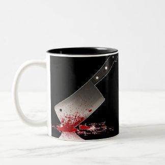 Cuchilla sangrienta taza de dos tonos
