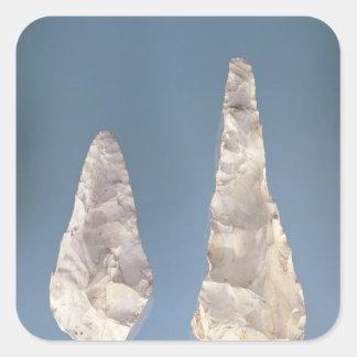 Cuchillas bilaterales, un período más bajo de pegatina cuadrada