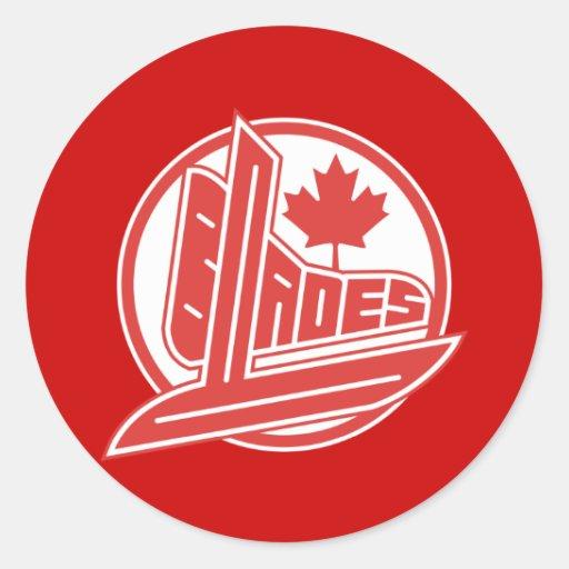 Cuchillas de Canadá Etiqueta Redonda