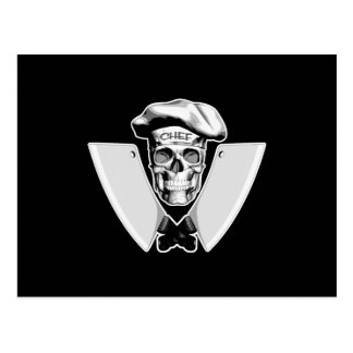 Cuchillas de carne del cráneo del cocinero postal