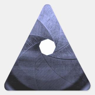 cuchillas de la abertura de lente pegatina triangular