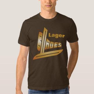Cuchillas de la cerveza dorada camisas