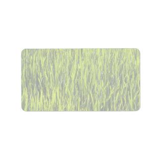 Cuchillas de la hierba etiqueta de dirección