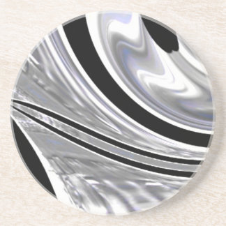 Cuchillas de plata del acero contra negro posavasos manualidades