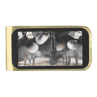 Cuchillas de propulsor titánicas del RMS Clip Para Billetes Dorado