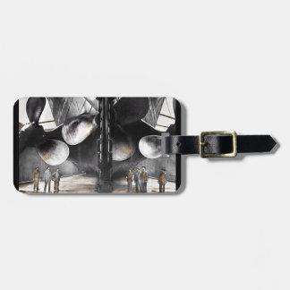 Cuchillas de propulsor titánicas del RMS Etiquetas Para Maletas