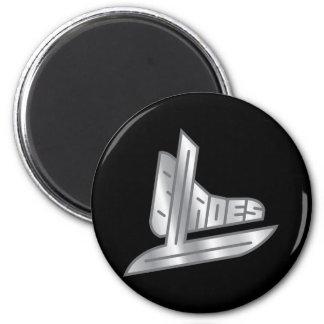 Cuchillas del hockey de la plata esterlina imán para frigorifico