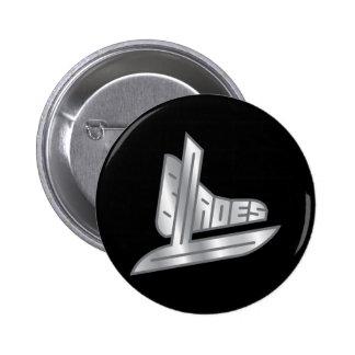 Cuchillas del hockey de la plata esterlina pin