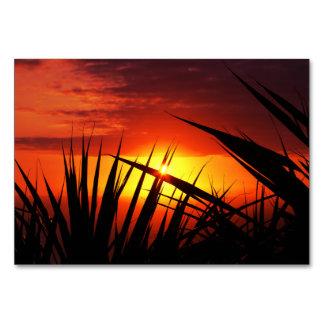 Cuchillas del paisaje hermoso de la puesta del sol