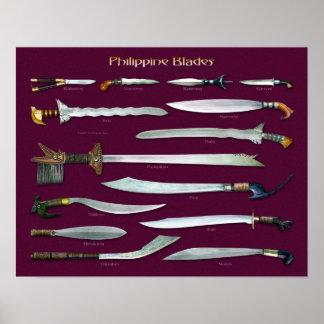 Cuchillas filipinas 1/3 escala poster